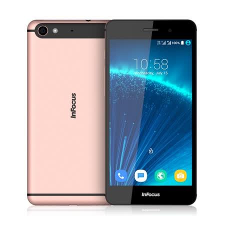 Infocus M808 5.2吋32G八核雙卡智慧手機(玫瑰金)-贈專用皮套+9H鋼化玻璃保貼+手機/平板支架