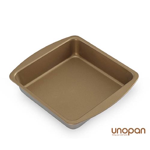 《UNOPAN》 方型烤盤(金色矽利康)240*210*48mm/烘焙器具/ 廚房用具/ 廚房鍋具/餐具/用品/UN10003