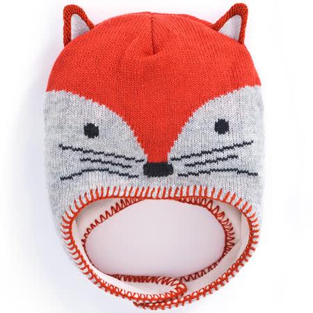 【英國 JoJo Maman BeBe】保暖舒適羊毛帽_調皮狐狸 (JJHAT-01)