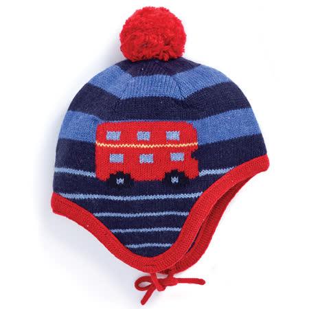 【英國 JoJo Maman BeBe】保暖舒適羊毛帽_紅色公車 (JJHAT-02)
