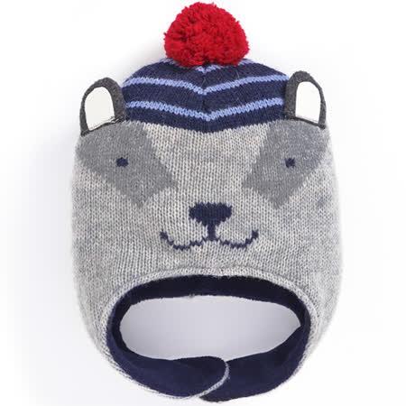 【英國 JoJo Maman BeBe】保暖舒適羊毛帽_灰色獾 (JJHAT-03)