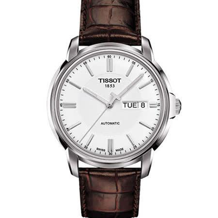 TISSOT 天梭 Automatics III 時尚紳士機械腕錶/T0654301603100