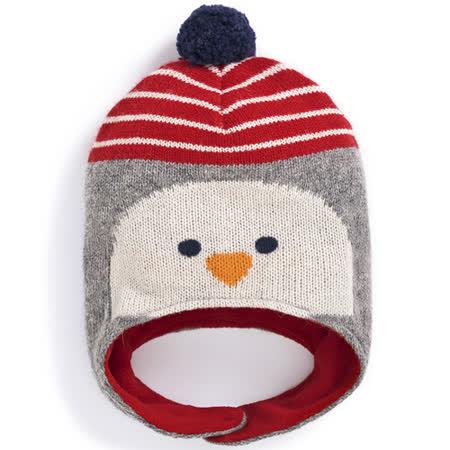 【英國 JoJo Maman BeBe】保暖舒適羊毛帽_可愛企鵝 (JJHAT-04)