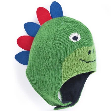 【英國 JoJo Maman BeBe】保暖舒適羊毛帽-綠色恐龍 (JJHAT-05)