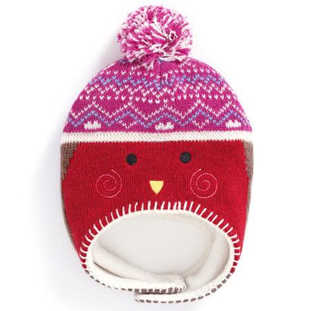 【英國 JoJo Maman BeBe】保暖舒適羊毛帽_知更鳥 (JJHAT-09)
