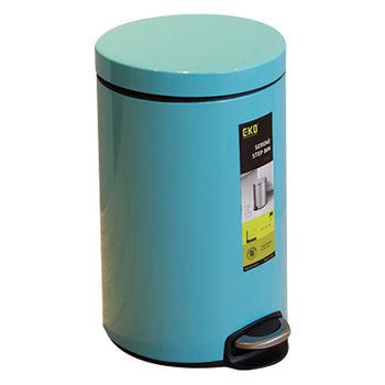 EKO心悅靜音緩降垃圾桶5L-天空藍