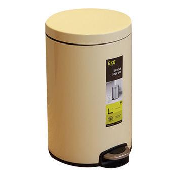 EKO心悅靜音緩降垃圾桶5L-米黃色