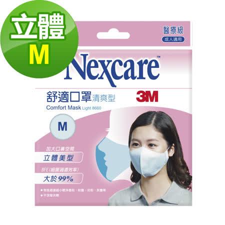 3M Nexcare 8660舒適口罩 輕爽型 拋棄式 5 片包(M)