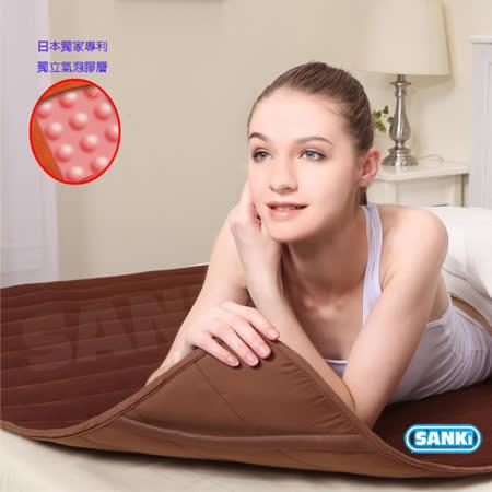 【SANKI三貴】日本SANKI獨立氣泡發熱舒適雙人保暖墊 3入可選