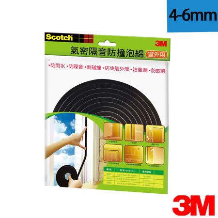 3M 室外用氣密隔音防撞泡棉 4-6mm