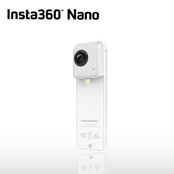 INSTA 360° NANO 全景相機攝影機 (公司貨)-送MACRO 64G記憶卡+MEFOTO MK10 藍芽自拍棒 自拍腳架