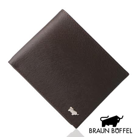 BRAUN BUFFEL 提貝里烏斯系列12卡透明窗短夾(咖啡色)BF166-317-SL