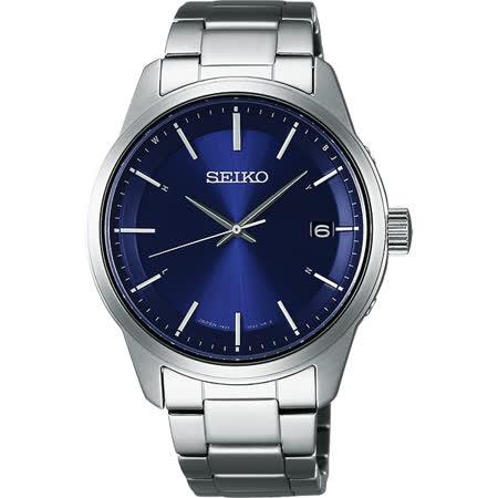 SEIKO SPIRIT 萬年曆太陽能電波腕錶-藍/40mm 7B24-0BJ0B(SBTM231J)