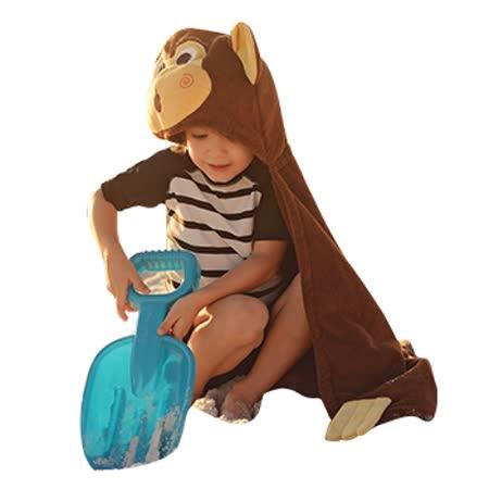 ZOOCCHiNi 可愛動物連帽浴巾/保暖毯-猴子(Age 2+)