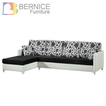 【私心大推】gohappy線上購物Bernice-愛莉 百花珠光皮L型沙發-左右型可選哪裡買愛 買 除夕 營業 時間