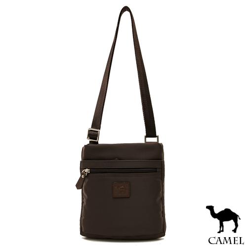 CAMEL ~ 倫敦品味十字紋防潑水牛皮薄型側背包~共2色