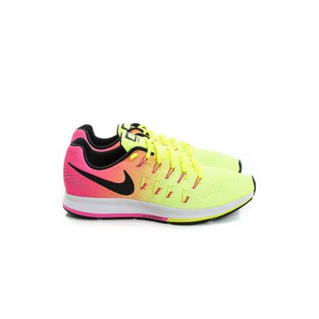 NIKE (男女) 慢跑鞋 螢光綠漸層粉 846327999