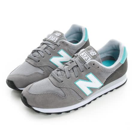 New Balance (女) 經典復古鞋 灰白綠 WL373GG