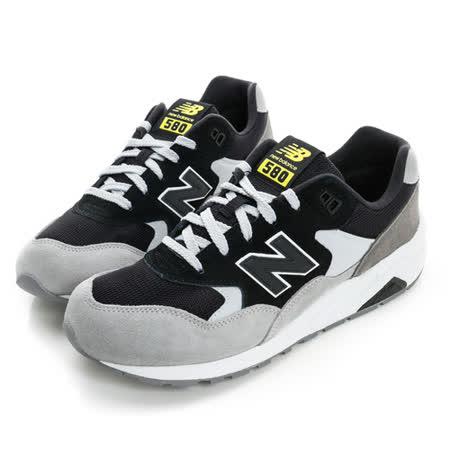 New Balance (女) 經典復古鞋 黑灰白 MRT580LF