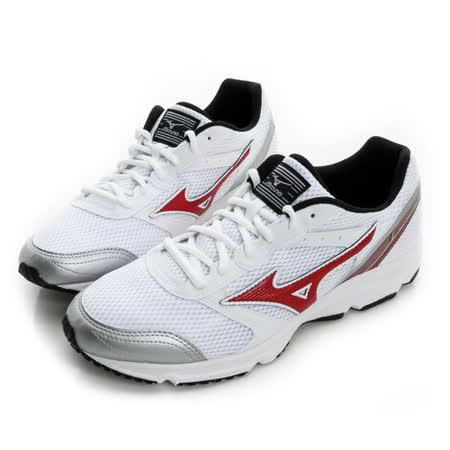 MIZUNO (男) 慢跑鞋 白紅 K1GA161461