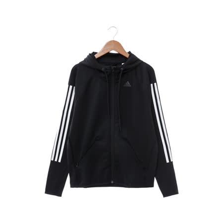 adidas 女 運動外套 黑AJ4821