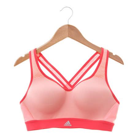 Adidas(女)運動內衣 粉AX5937