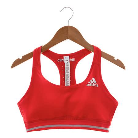ADIDAS(女)運動內衣 紅AX8778