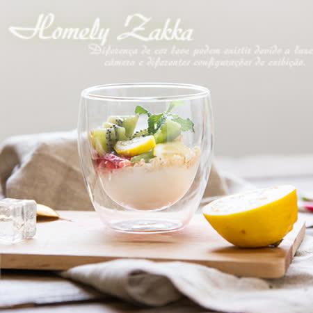 【Homely Zakka】午茶食光隔熱保溫双蓋雙層玻璃杯/竹蓋密封罐/輕食甜點杯 (250ml)