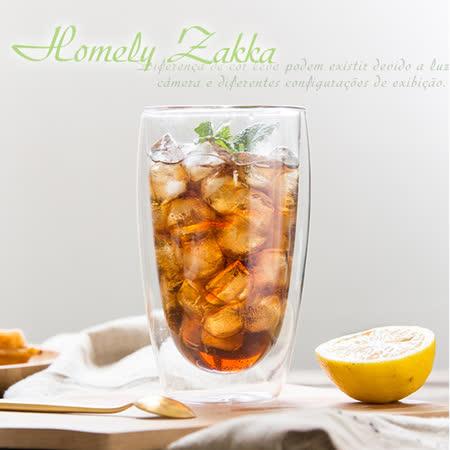 【Homely Zakka】午茶食光隔熱保溫双蓋雙層玻璃杯/竹蓋密封罐/輕食甜點杯 (450ml)
