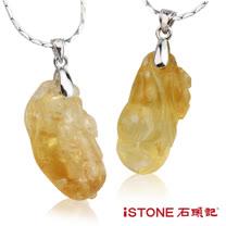 石頭記 大黃水晶精雕墬-招財納福(隨機出)