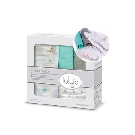 加拿大lulujo嬰兒包巾禮盒組-夢境