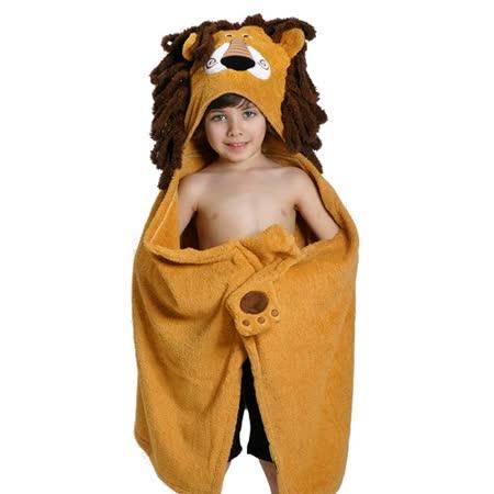 ZOOCCHiNi 可愛動物連帽浴巾/保暖毯-獅子(Age 2+)