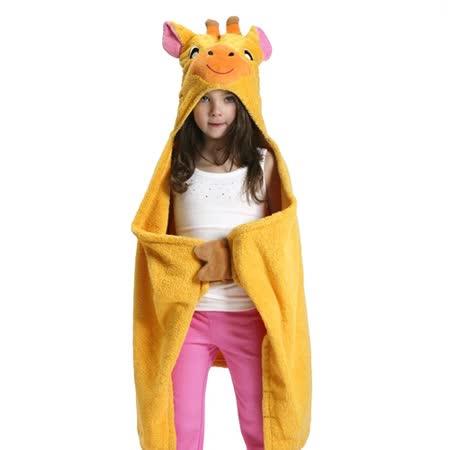 ZOOCCHiNi 可愛動物連帽浴巾/保暖毯-長頸鹿(Age 2+)