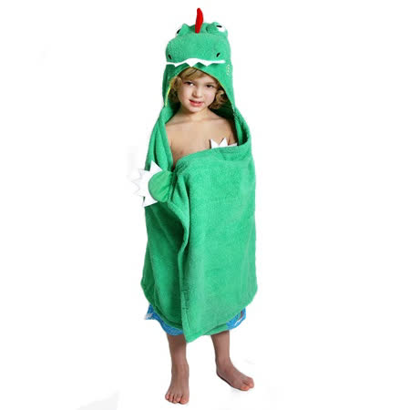 ZOOCCHiNi 可愛動物連帽浴巾/保暖毯-恐龍(Age 2+)