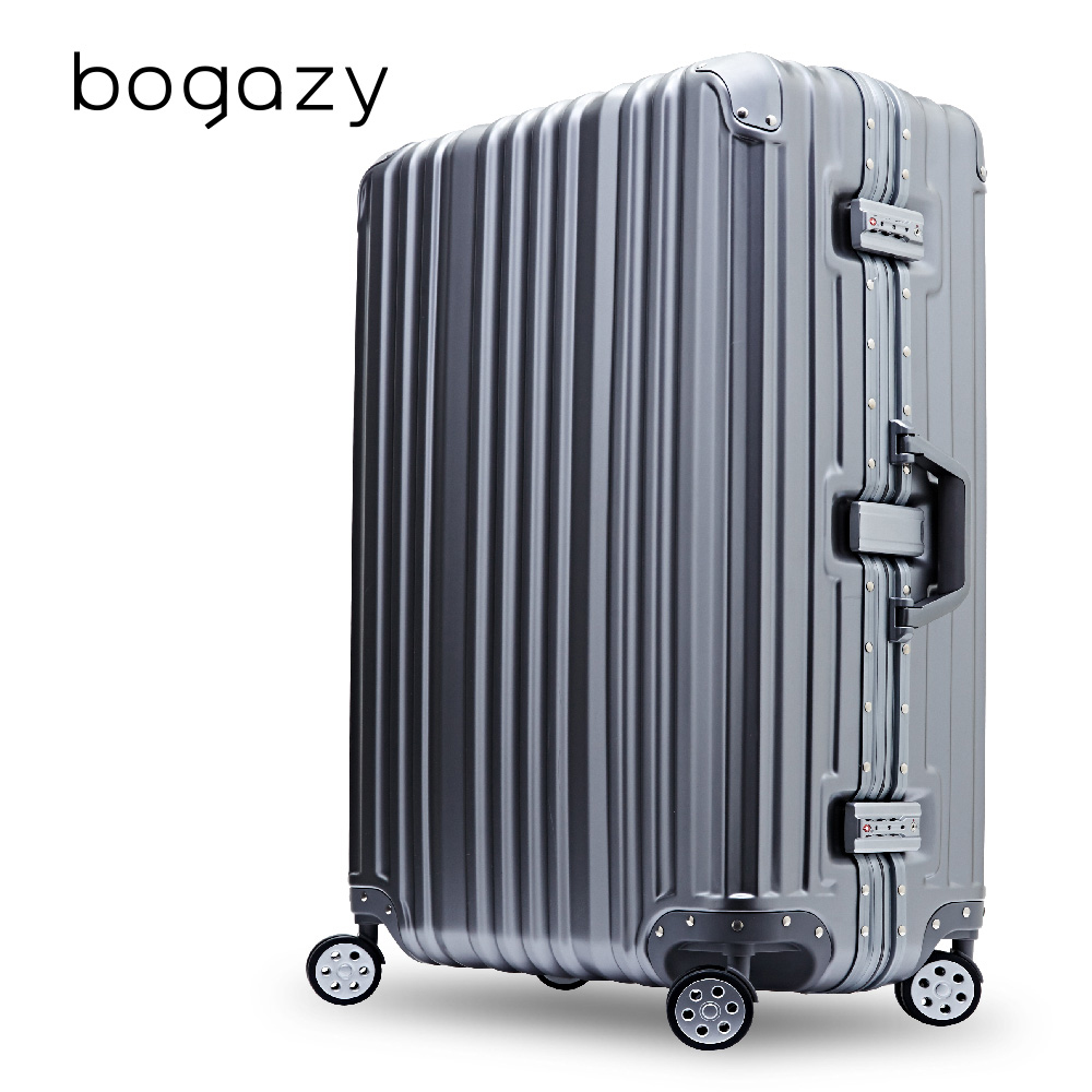 【Bogazy】炫燦幻影 29吋PC鋁框磨砂霧面防刮行高雄 漢 神 巨 蛋李箱(星燦灰)