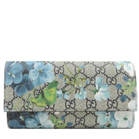 【好物分享】gohappy 線上快樂購GUCCI GG Blooms PVC 藍花朵翻蓋長夾推薦愛 買 冰箱