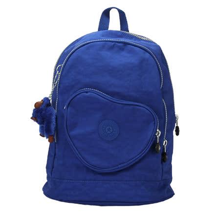 Kipling 經典Basic尼龍心型口袋後背包(小/藍色)