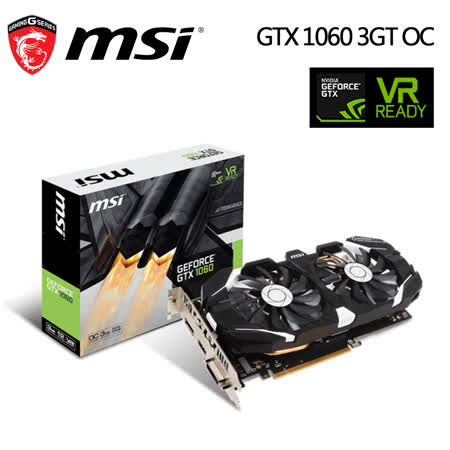 msi 微星 GeForce GTX1060 3GT OC 顯示卡