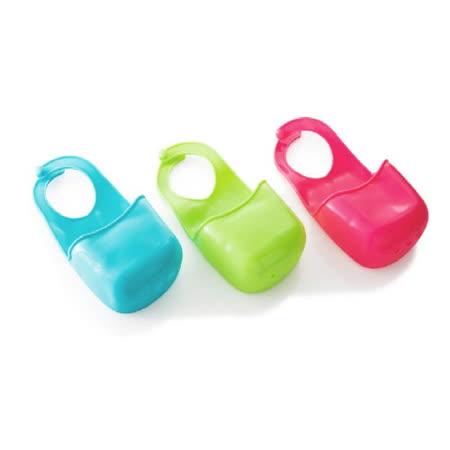 (便利收納小幫手) 1入裝 鈕扣式廚房水槽海綿抹布掛籃 / 浴室洗潔用品收納掛籃 不挑色 SK