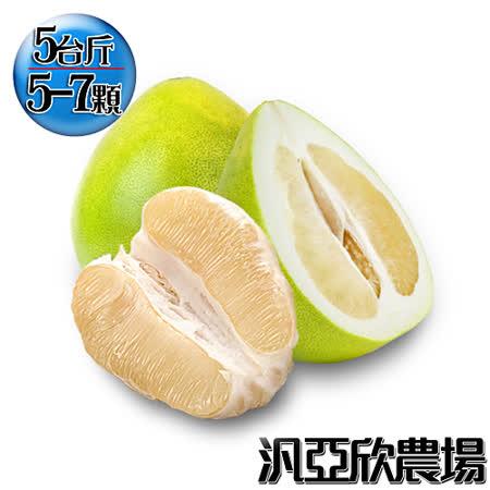 【汎亞欣農場】產銷履歷40年老欉麻豆文旦5台斤(5-7顆入)