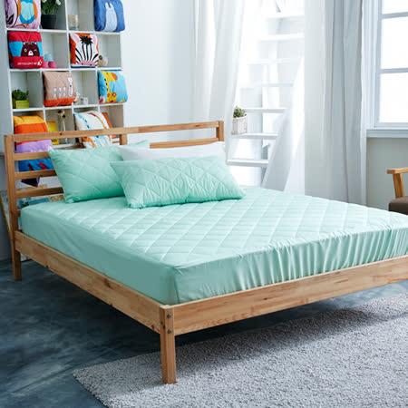美夢元素 繽紛馬卡龍保潔床墊-單人〈薄荷綠〉