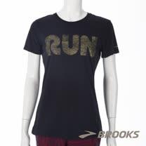 BROOKS 女 Run 迷濛短T(221138001)