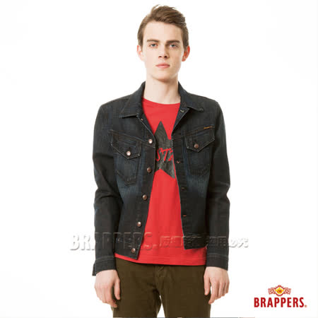BRAPPERS 男款 男用彈性牛仔長袖外套-深藍