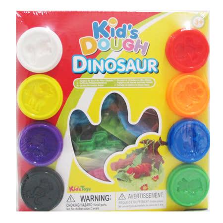 kid's Dough-美國無毒小8色黏土(50gm)恐龍工具組