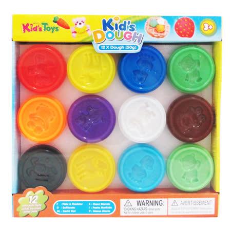 kid's Dough-美國無毒小12色黏土派對組(50g)
