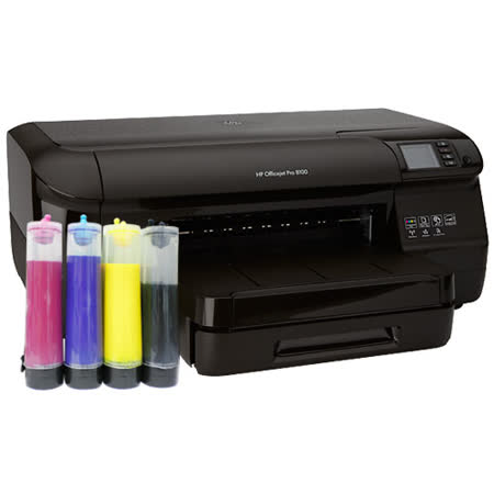 HP Officejet Pro 8100 高速商用雙面雲端印表機+有線連續供墨(防水墨水)
