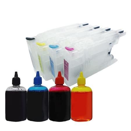 YUANMO Brother 填充式墨水匣 J625DW 專用短匣