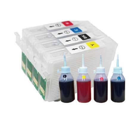 YUANMO EPSON 73N 填充式墨水匣組 TX100/TX200/TX300F 專用