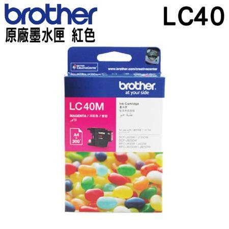 Brother LC40 紅色 原廠墨水匣