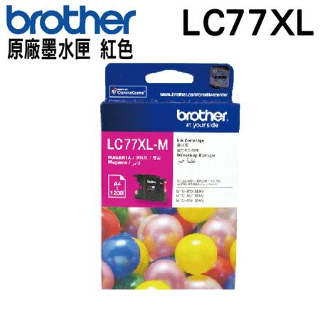 Brother LC77XL 紅色 原廠墨水匣